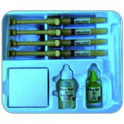 KIT COMPOSITE RELY-A-BOND 4jer x 3,5g, Primer bote 16g,  Acido Grabador 9g Accesorios