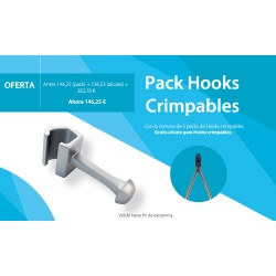 CRIMPABLE HOOKS PACK + PLIERS FOR FREE